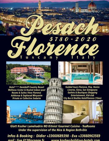 2020 Live613 Vacations Pesach Program in Florence Tuscany Italy