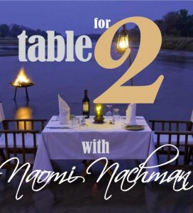 Table for 2 with Naomi Nachman Passover Listings interview